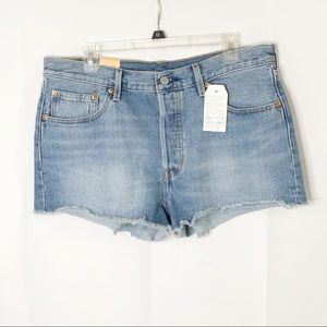Levi's 501 straight leg button fly denim shorts